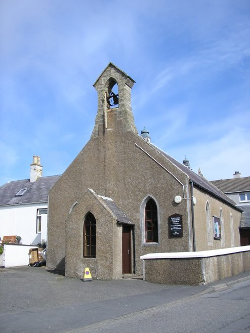 Scalloway Methodist Chapel, 24 May 2017, side view (a) | G W Oxley