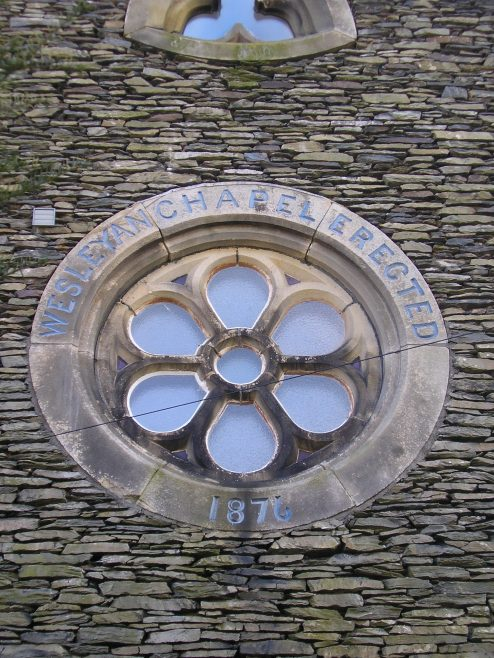 Staveley, WM chapel,date stone 16 April 2016 | G W Oxley