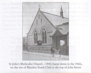 St. John's Chapel, Shibdon Rd,Blaydon   Winlaton History Society