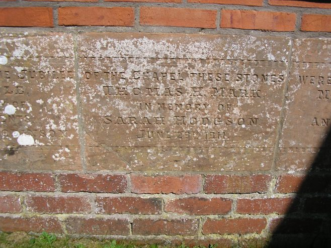 Thurstonfield WM Chapel, Jubilee memorial stone (ii) | G W Oxley