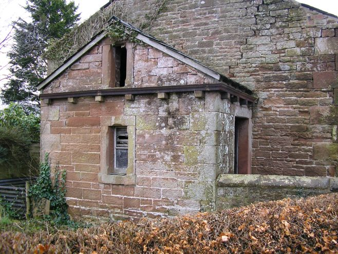 Netherhouse (Ullermire) WM Chapel, porch , 7.2.2016 | G W Oxley