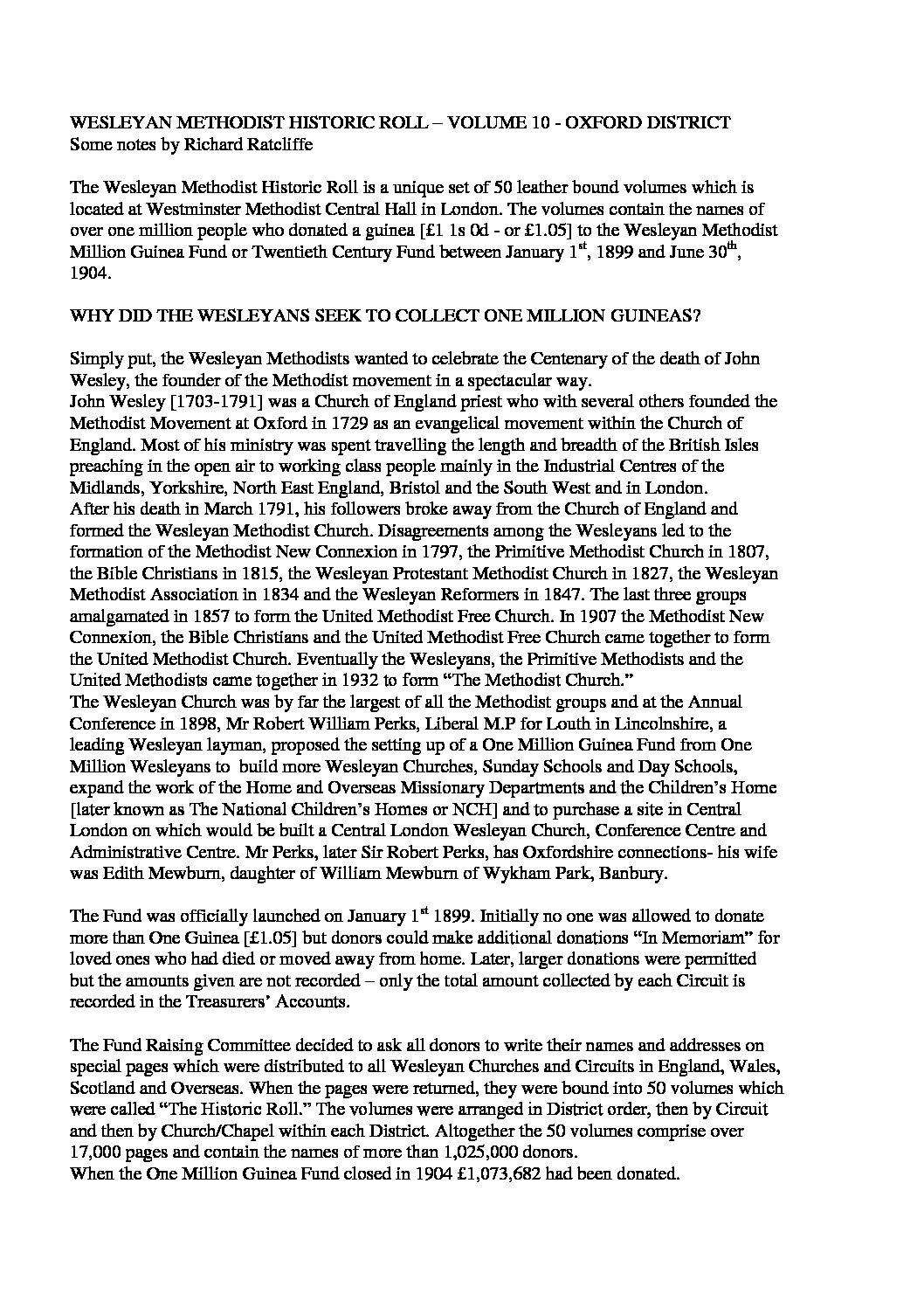 Wesleyan Historic Roll volume 10