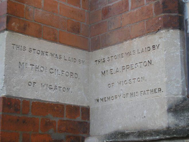 Wigston Mana WM Chapel,  chapel foundation stones (iii),  18.12.2017   G W Oxley