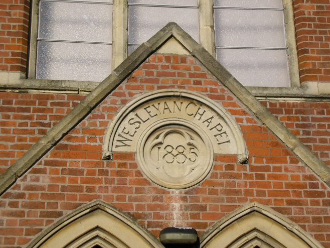 Wigston Mana WM Chapel,  chapel name and date plaques, 18.12.2017 | G W Oxley
