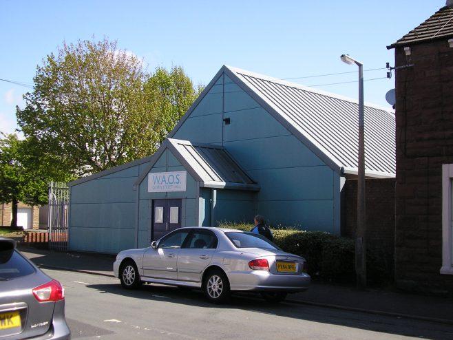 Workington, Queen Street  WM Chapel,,entrance, , 13.5.2015 | G W Oxley