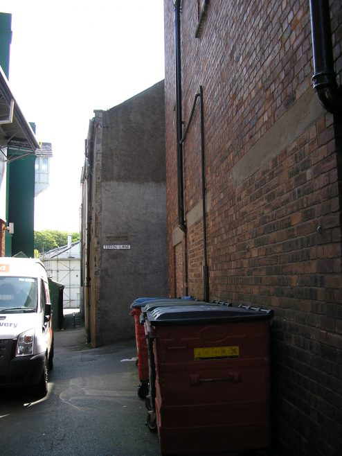 Workington, Tiffin Lane, part of the Tiffin Lane side of  the chapel, 24.5.2016 | G W Oxley